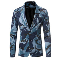 The North Of Men S Tactical Jackets Military Casual Slim Fit Button Suit Camouflage Print Blazer
