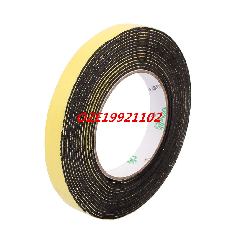 15 x 2mm Single Side Adhesive Shock Resistant Anti-noise Foam Tape 5M Length 1pcs 80mm x 2mm single sided self adhesive shockproof sponge foam tape 5m length