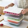 Кухонный ящик для хранения пластиковая еда в холодильнике ящик для хранения яиц с крышкой контейнер Органайзер держатель пельменей прозра...