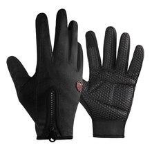 WHEEL UP Cycling Gloves Winter Fleece Warm Full Finger Waterproof Touch Screen MTB Road Bike Bicycle Anti-Slip