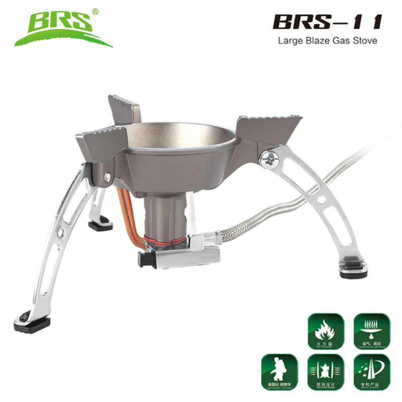 BRS-11 Windproof Whirlwind Outdoor Camping Stove Gas Burners Camping Cooker Picnic Cookout Hiking Equipment Oven Heater Tripod