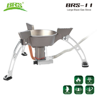 BRS 11 Windproof Whirlwind Outdoor Camping Stove Gas Burners Camping Cooker Picnic Cookout Hiking Equipment Oven Heater Tripod