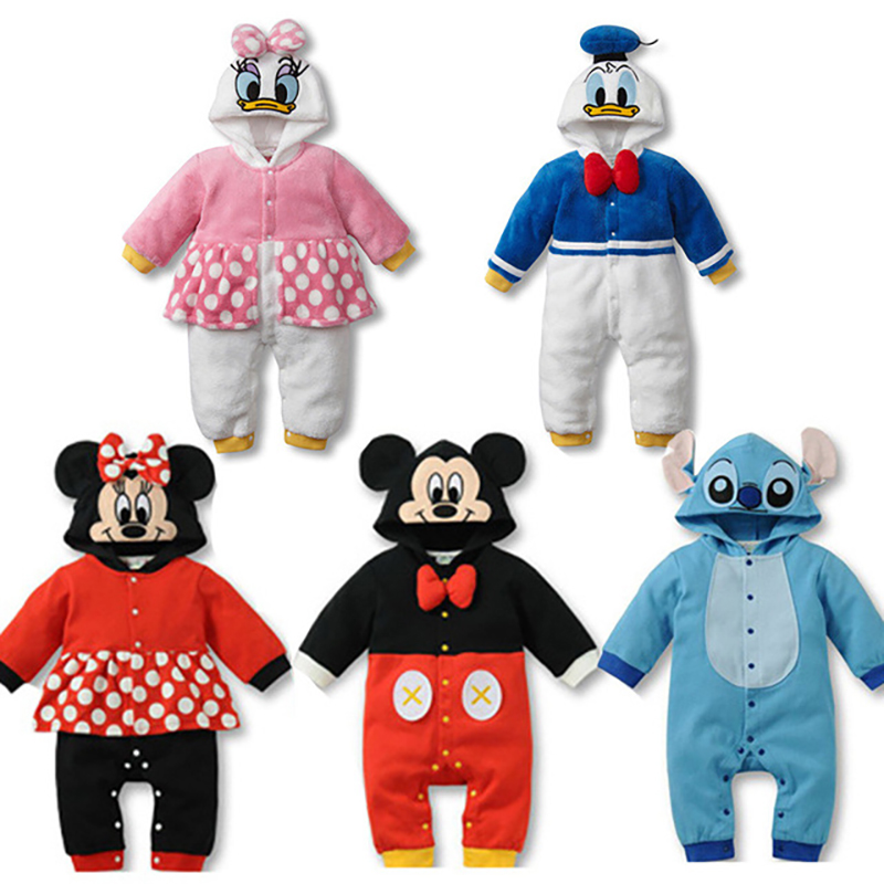 2019 Spring Autumn New Style Long Sleeve Girls Cartoon Baby   Romper   Cotton Newborn Jumpsuit Baby Pajama Boys Mickey Mouse   Rompers