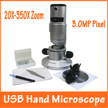 Cheap price 3.0MP Pixel 20X, 80X,350X Pocket Educational Student Children USB Digital Microscope Magnifier with Top and Bottom LED Light