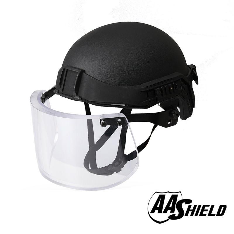 AA Shield Tactical Ballistic Military Helmet Glass Visor Mask Body Armor Kit Safety Helmet Aramid Lvl IIIA 3A stainless steel querysystem cauterize moxibustion box moxa 7 tank spine