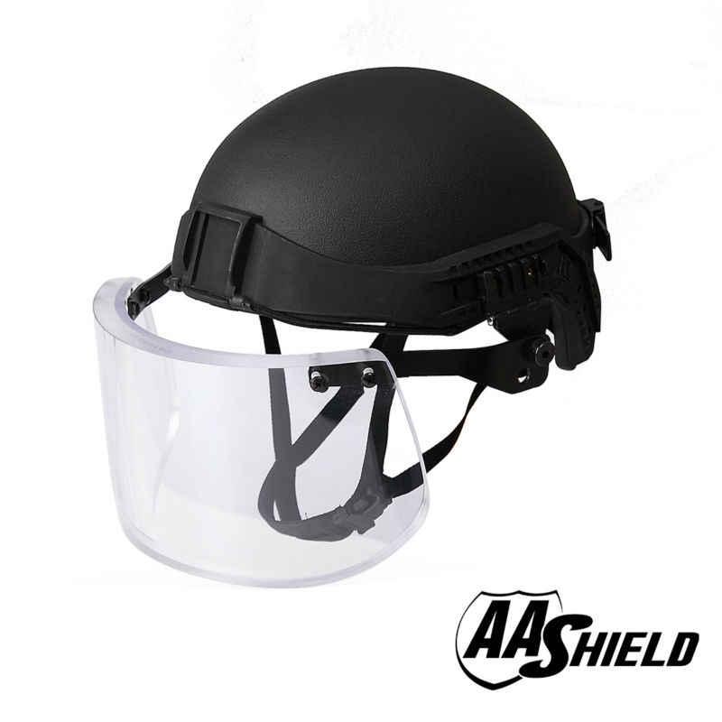 a39677bc AA Shield Tactical Ballistic Military Helmet Glass Visor Mask Body Armor  Kit Safety Helmet Aramid Lvl
