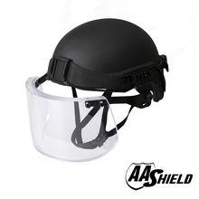 AA Shield Tactical Ballistic Military Helmet Glass Visor Mask Body Armor Kit Safety Helmet Aramid Lvl IIIA 3A