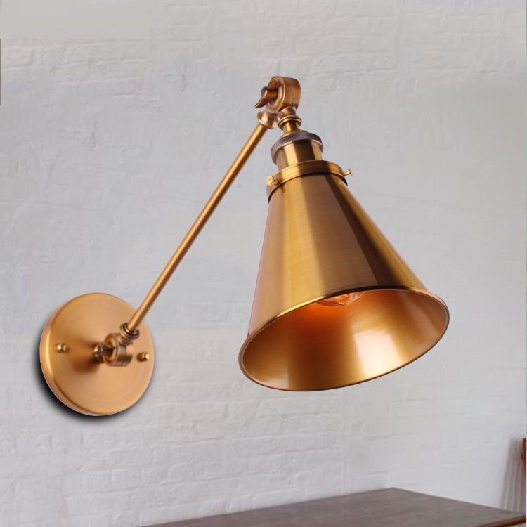 Wall Lamps Loft retro bronze wind industrial mechanical arm double wall bar creative personality study direct manufacturers GY8Wall Lamps Loft retro bronze wind industrial mechanical arm double wall bar creative personality study direct manufacturers GY8