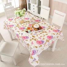 PVC waterproof and oil-proof tablecloth, rectangular disposable household square table coffee cloth