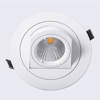 1pcs Dimmable LED Trunk Downlight COB Ceiling 10W AC85 265V Adjustable Recessed Super Bright Indoor Light