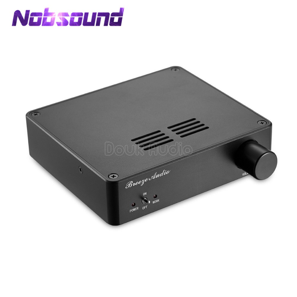Nobsound Mini TAS5613 Class D Digital Amplifier Hi-Fi 2.0 Stereo Amp 300-Watt High Power Amplifier wholesale brand new mini hi fi high power 2 1 dc10 18v digital amplifier board 15w 2 30w class d amplifier with knob 10000622