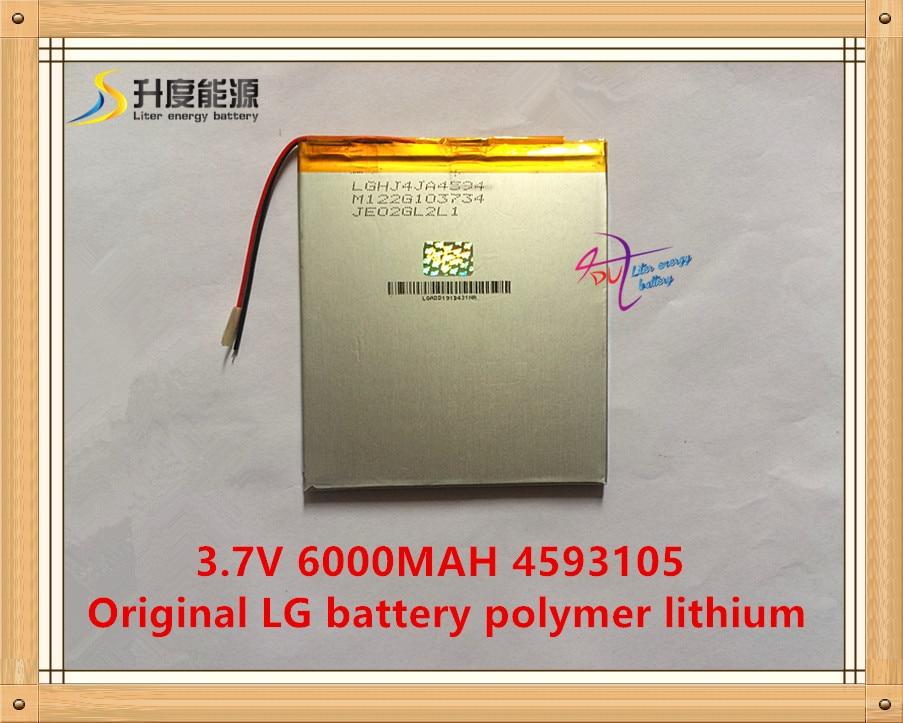 3.7V, 6000mAH, 4593105 Oriģināls L G akumulatora polimēra litija jonu akumulators, SmartQ T20, VI40, A86 Dual Core P85 planšetdators