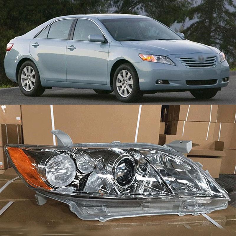 Ownsun Original Replacement Chorme Housing Halogen Headlights For Toyota Camry 2007-2009