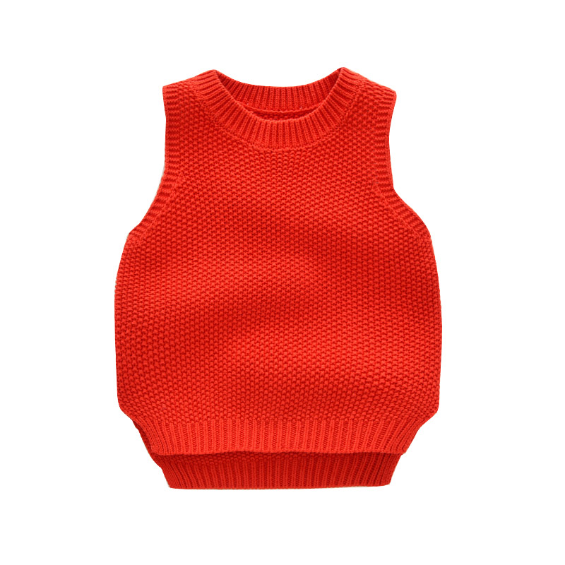 MCYYXY Little Boys Girls Kint Sweater Vest Kids Colid Colored Cardigan Spring Summer Pullover Brand Chothing