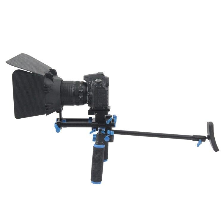 Lightdow YLG0102E Professional  Dual Handles Camera Shoulder Mount Kit +M1 Matte Box for DSLR Cameras and Video Camcorders  все цены