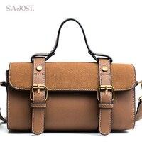 Leather Tote Bags Handbag For Women Fashion Famous Brand Pillow Girl Messenger Shoulder Bag Female Brown Handbag DropShipping