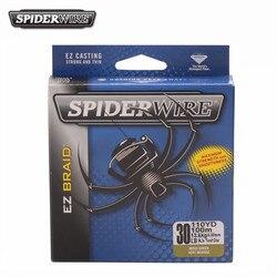 Spiderwire EZ Casting 100 m/110yd polietylenowa żyłka wędkarska pleciona przynęta wędkarska o wysokiej wytrzymałości gładki pleciony drut Reel sznurek 10-50LB