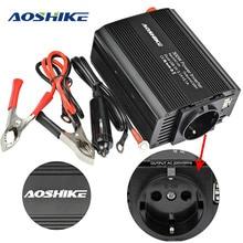 AOSHIKE المزدوج USB 4.2A العاكس 12 فولت 220 فولت 300 واط 500 واط الاتحاد الأوروبي محول طاقة السيارة 12 فولت إلى 220 فولت السيارات محول الجهد معدِّل سيارة