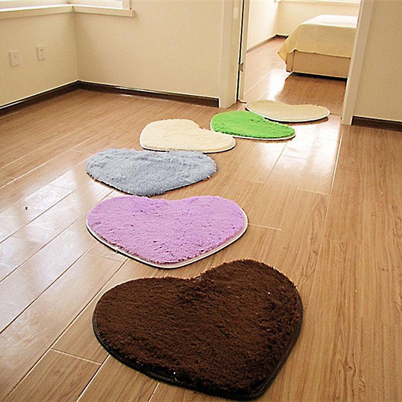 Heart Shaped Carpet Rug Home Bedroom Floor Mat Soft Fluffy Living-Room Bathroom Cover Decoration