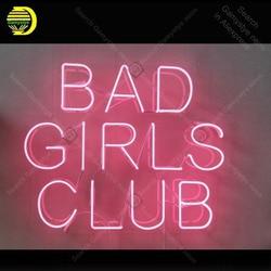 Cartel de neón para Club de chicas malas, adorno de luz de neón hecho a mano, decoración para habitación de Hotel, arte icónico, lámpara de neón, tablero claro, obra de arte