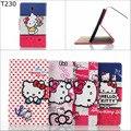 Мода Cute Kitty pu кожаный Бумажник карты стенд держатель крышки случая для Samsung Galaxy Tab 4 7.0 T230 T231 t235 с экрана фильм