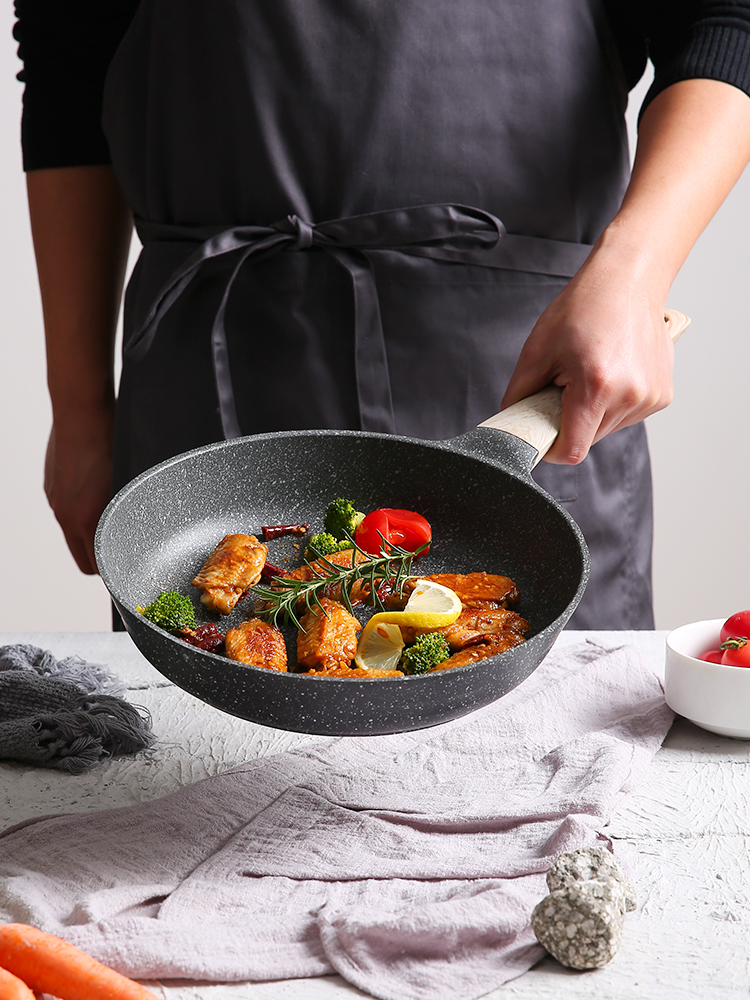 Medical Stone Non-stick Saucepan Steak Frying Pan Pancake Gas Stove Induction Stove Wok Pan Kitchen Pots And Pans Smokeless