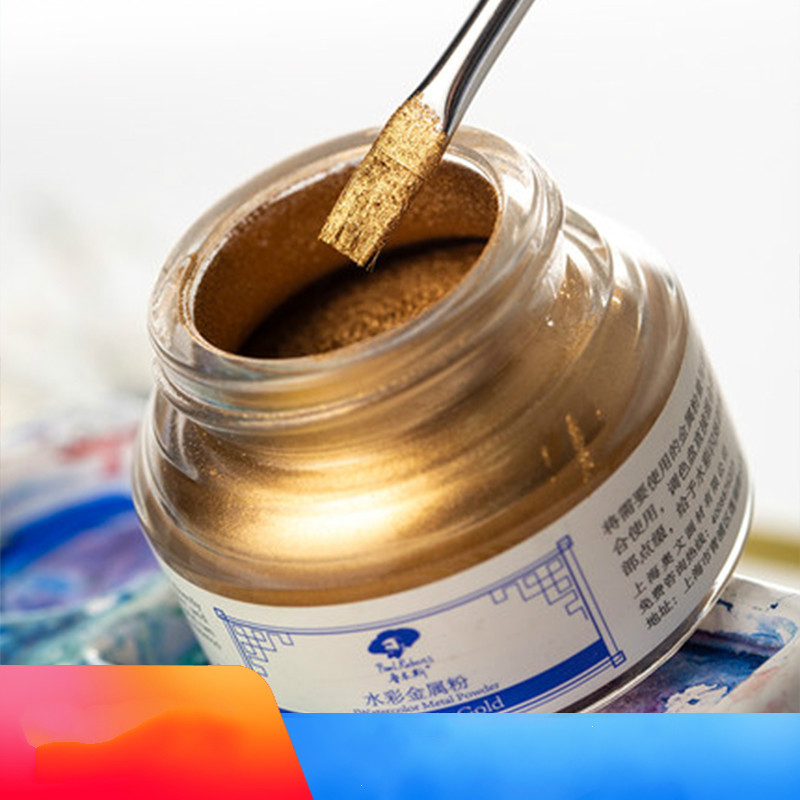 Rubens Watercolor Metal Powder, Watercolor Special Effects Medium, Gold Powder Silver Powder,Pearl Powder