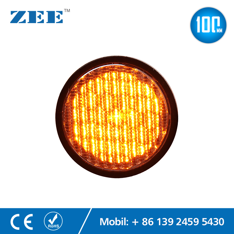 4inches 100mm Yellow Amber LED Traffic Lamps Mini Traffic Signal Light Module LED Replacement Lights PC Plastic Housing