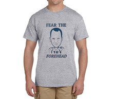 NEW 2017 summerFear the Forehead peyton manning funny t shirts Mens Number 18 Fashion T-shirts for Broncos fans 0214-4