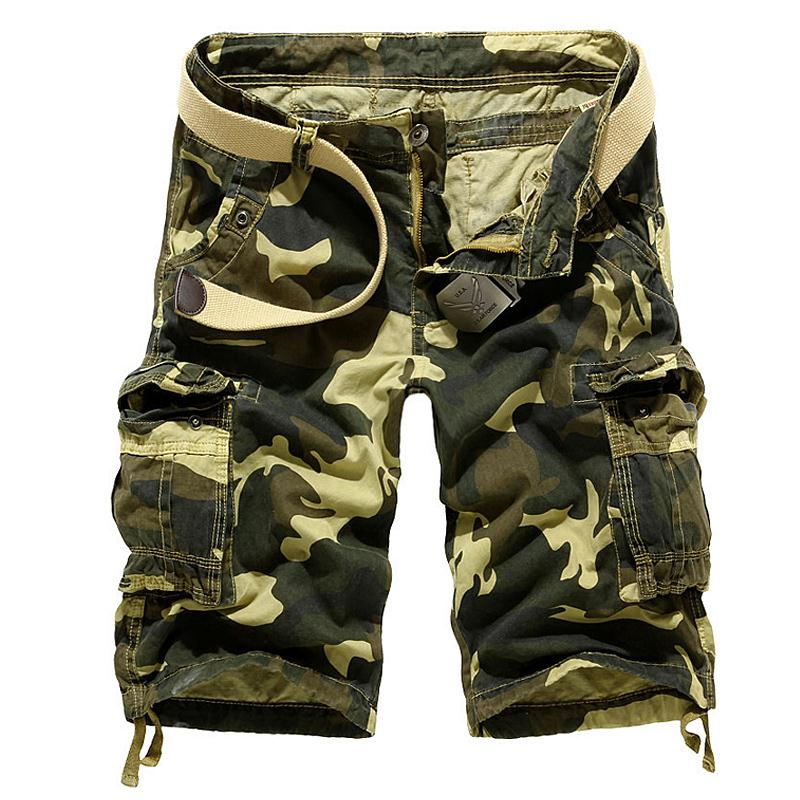 summer style cargo shorts men 2017 summer casual loose camouflage military shorts fifth of large size