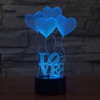 Modern Fantastic Design 3D Deco I Love you Shape Creative Night Light Cool lamp for Valentine Gifts