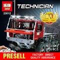 ENFRIAR LEPIN 23012 serie técnica 2839 unids vehículos de juguete Modelo de coche bloques de construcción de Ladrillos Equipado con 5 motores y 1 de carga caja