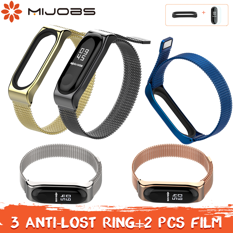 Mijobs Mi band 3 Strap Metal Bracelet for Xiaomi Mi Band 3 Smart Band Accessories Screwless Correa Miband 3 Wristband SteelMijobs Mi band 3 Strap Metal Bracelet for Xiaomi Mi Band 3 Smart Band Accessories Screwless Correa Miband 3 Wristband Steel