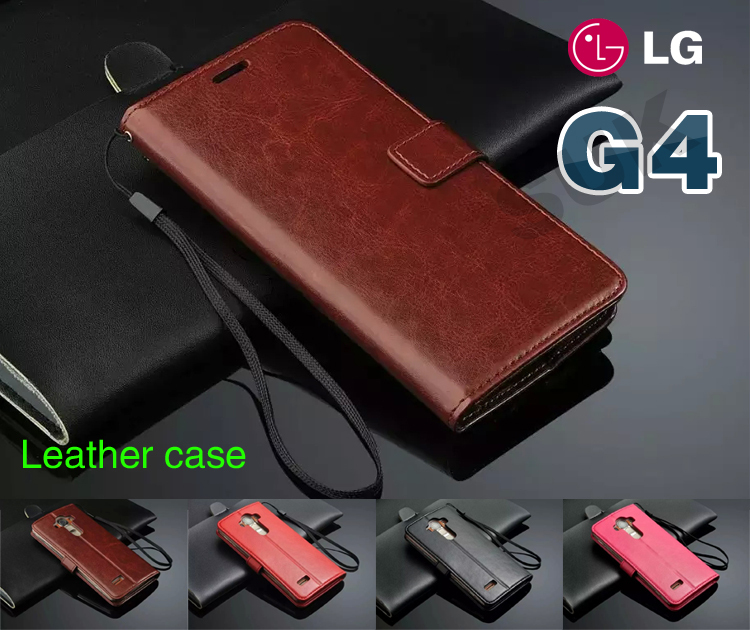 High Quality Leather Wallet Case for LG Optimus G4 Capa Flip Book Style Leather Caso for LG G4 Phone Cover + Free Gift