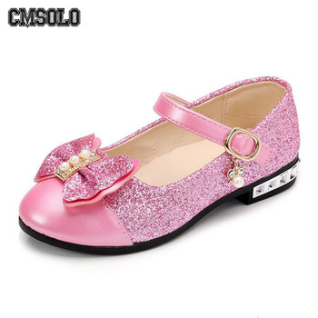 CMSOLO Children Princess Shoes New 2019 Girls Sequins Wedding Party Kids Baby Infants Hot Shoes for Girls Pink Gold School Dance