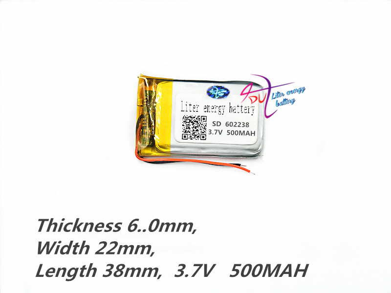 Computer & Büro Lithium-polymer Batterie 602238 062238 3,7 V 500 Mah Mp3 Mp4 Mp5 Gps Diy Lautsprecher Hirse Bluetooth 500 Mah Tablet Polymer Batterie