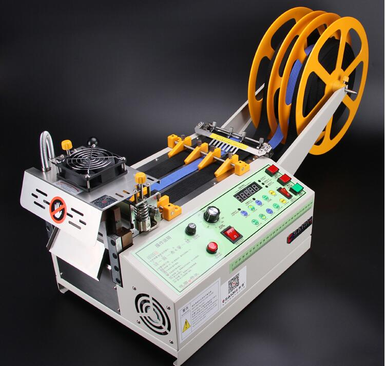 140T computer hot and cold Cloth belt cutting machine magic adhesive tape zipper webbing machine elastic