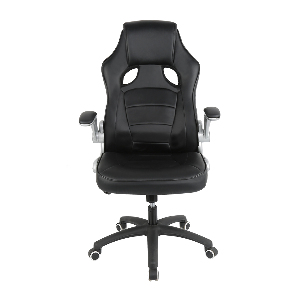 Black/gray Ergonomic Office Chair Executive Boss Chair Lifting Reclining Racing Computer Gaming Chair PU Leather Chair HWC