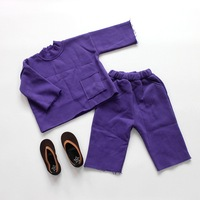 Baby Girl Clothes Children's Casual Clothing Set Toddler Boy Loose Pullovers Tops+wide Leg Pants Suit Kids Clothes Boys Outwear