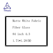 Thinyou 84 inch 4:3 Simple curtain Matte White Fabric Fiber Glass  Projector Screen Wall Mounted Home for LED LCD DLP projector illumine 2016 hot selling projector prs200 home projector to meet the day teaching not pulling the curtain page 4