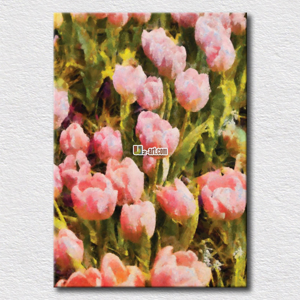 US $11.76 |Pink rose flower oil painting pictures hang on the girls bedroom  wall beautiful gift for girlfriend wall paintings-in Painting & ...