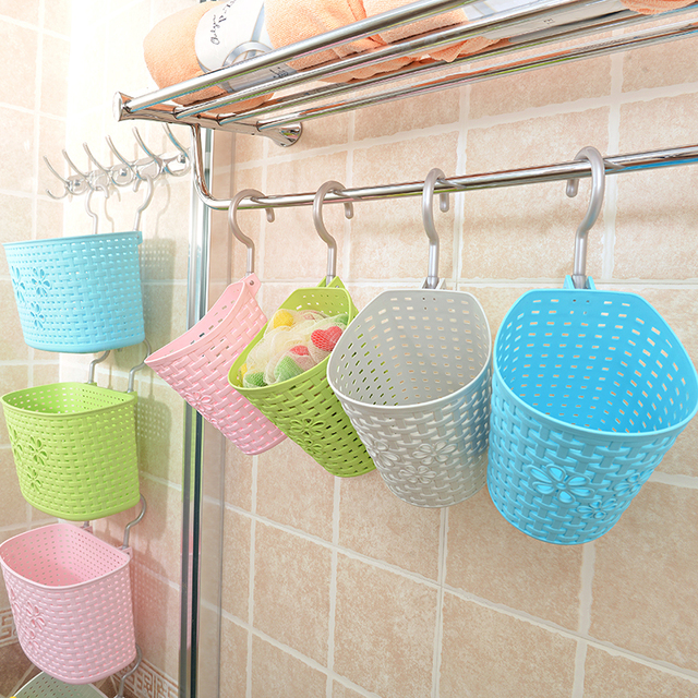 Multipurpose Bathroom Kitchen Car Office Hanging Basket Storage Organizer  Creative Strong Mesh Container Shelf  Green