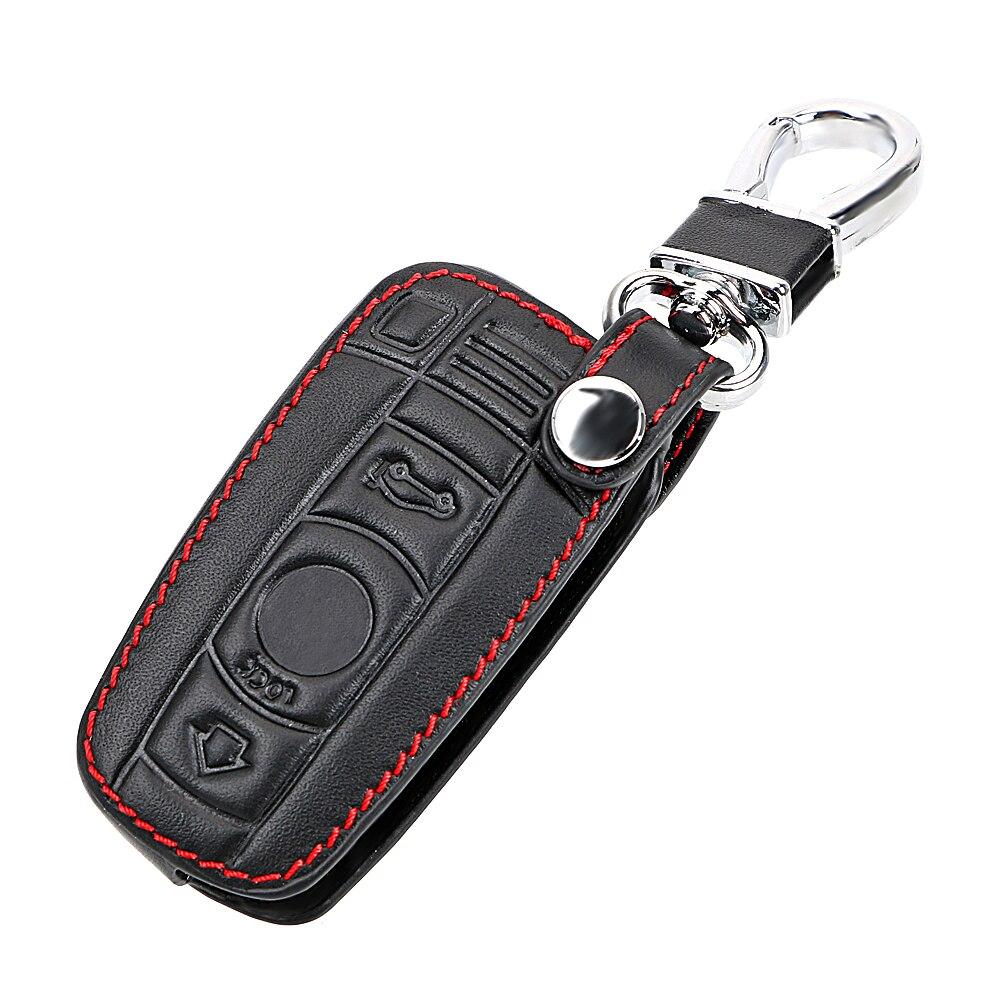 Leather Car Key Cover for BMW E90 E60 E70 E87 3 5 6 Series M3 M5 X1 X5 X6 Z4