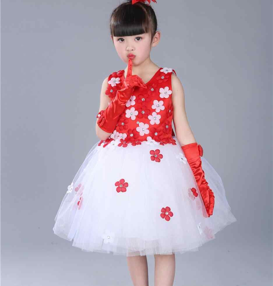 29a5d3f20e99f New Hot Baby Girl Dress Children Girl Dance Dresses fashion flower wedding  Princess Party Costume Kids Clothes Summer Clothing