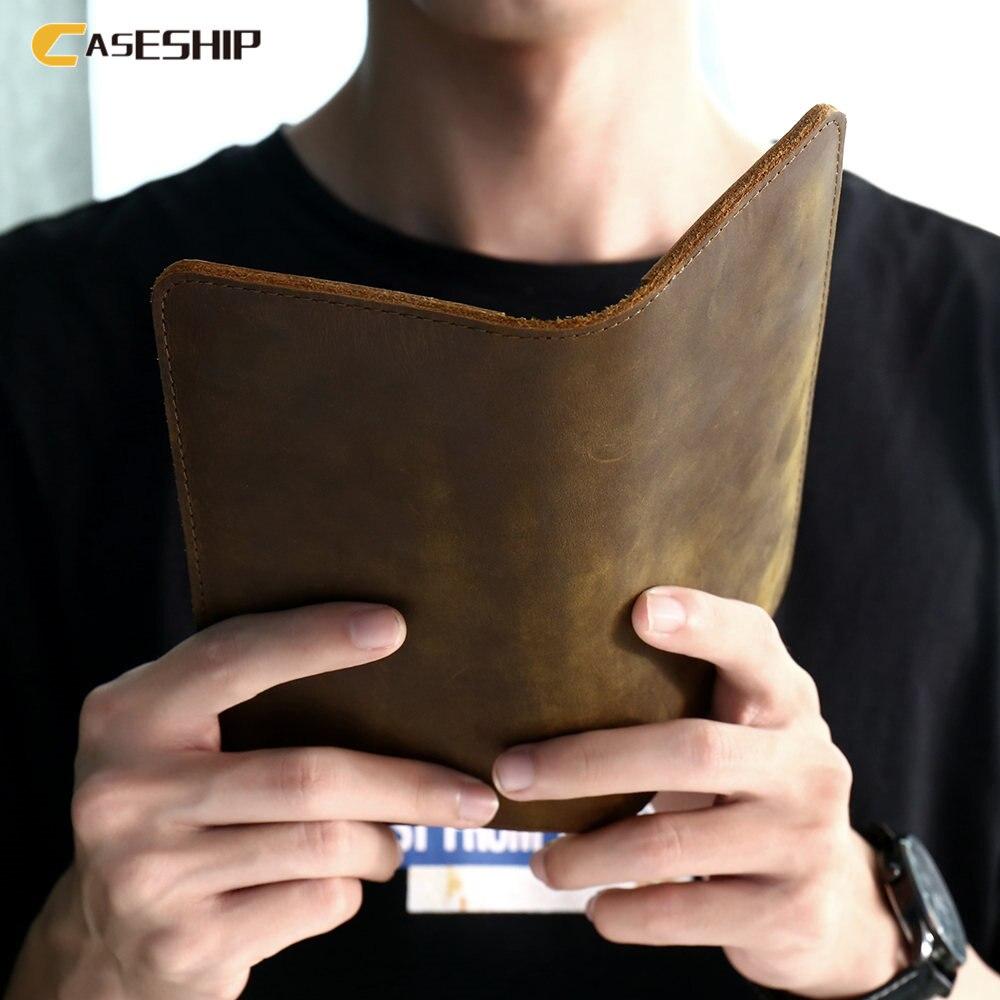 imágenes para CASESHIP Caja Del Cuero Genuino Para el iphone 6 7 5 Samsung Galaxy S8 S8 Más S7 S6 Edge Coque Teléfono de Lujo Bolsa Bolsa Casos