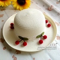 Fashion Summer Sweet candy Cherry Sun Hats for Women kids adults Outdoor Beach Straw Hat Unisex Casual Woman Caps