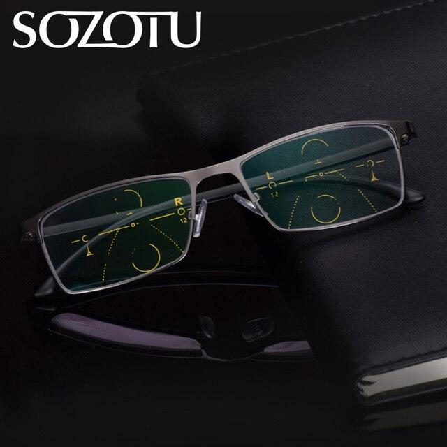 802ebc8f31c Multi-focal Progressive Reading Glasses Men Women Presbyopic Eyeglasses For Male  Female Eyewear +1.0+1.5+2.0+2.5+3.0+3.5 YQ150