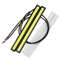 2pcs/lot 20W 12V Auto DRL Daytime Driving Running Light waterproof COB Chip LED Car Styling Daylight #HP
