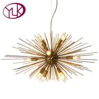 Creative Design Modern Crystal Light Chandelier For Living Room Gold Hanging Lighting Fixture LED Lustre Home