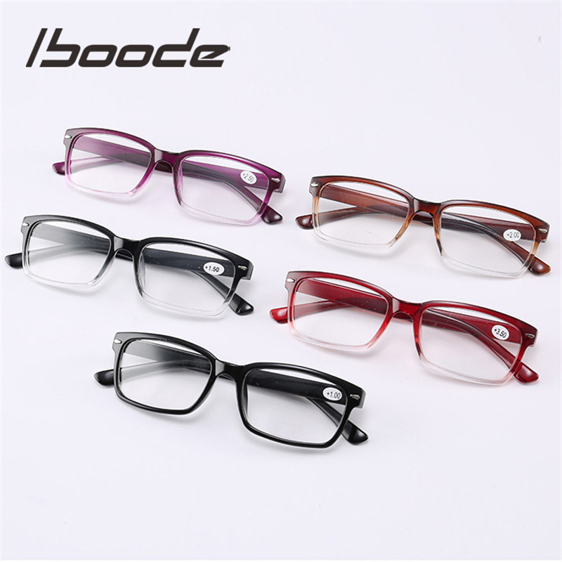 Iboode Ultra Light Reading Glasses Men Women Eyeglasses Unisex Presbyopia Eyewear With 1.0 1.5 2.0 2.5 3.0 3.5 4.0 Diopter